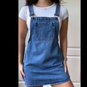FOREVER 21 Denim Pinafore/Overall Dress